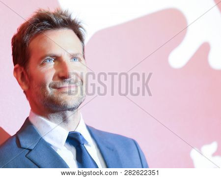Bradley Cooper attends 'A Star Is Born' photocall during the 75th Venice Film Festival at Sala Casino on August 31, 2018 in Venice, Italy.