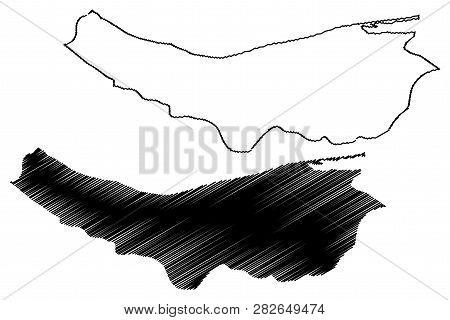 Mazandaran Province (provinces Of Iran, Islamic Republic Of Iran, Persia) Map Vector Illustration, S