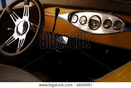 Interior Of Antique Car
