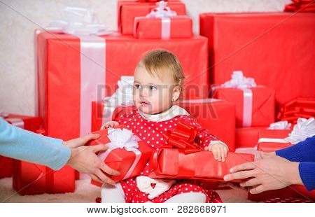 Sharing Joy Of Baby First Christmas With Family. Baby First Christmas Once In Lifetime Event. Little