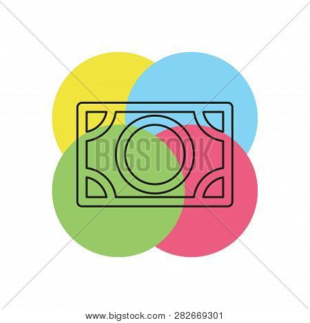 Vector Dollar Sign, Money Dollar Icon - Currency Dollar Bill Symbol. Thin Line Pictogram - Outline S