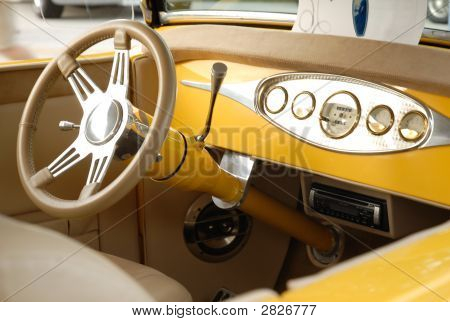 Interior Of Antique Car