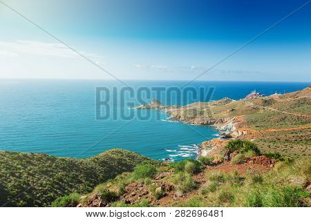 Rocky Coast Of Spain, Natural Park Of Cabo De Gato, Andalusia