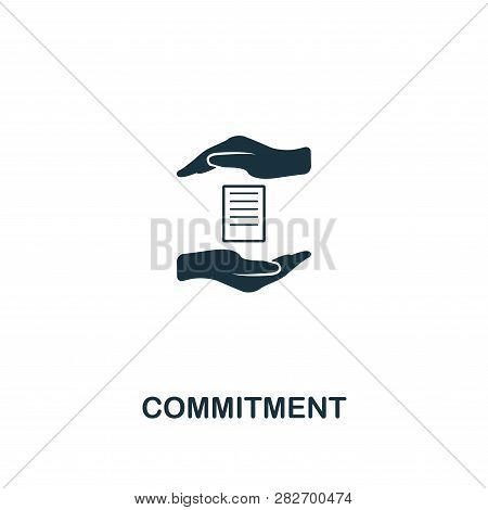 Commitment Icon. Premium Style Design From Business Management Icon Collection. Pixel Perfect Commit