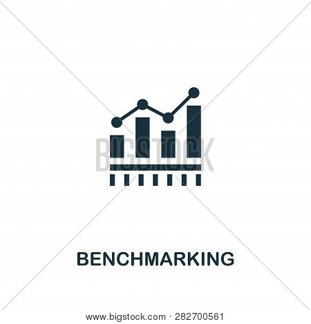 Benchmarking Icon. Premium Style Design From Business Management Icon Collection. Pixel Perfect Benc