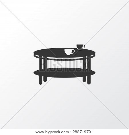 Coffee Table Icon Symbol. Premium Quality Isolated Teatime Element In Trendy Style.