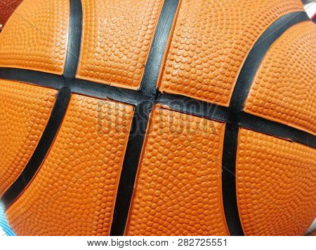 Basketball texture background
