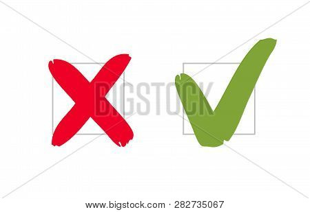 Do And Dont, Pros And Cons. Check Marks Sign. Vote, Voting Vector