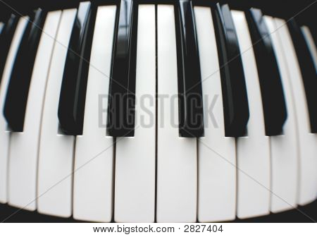 Round Piano Keyboard
