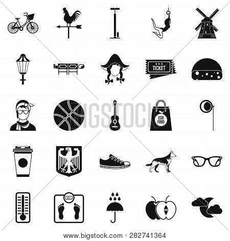 Rural Icons Set. Simple Set Of 25 Rural Icons For Web Isolated On White Background