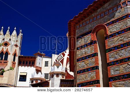 Church With Beautiful Architecture And Ornament. Lloret De Mar, Costa Brava Spain.