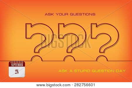 Post Card For Ask A Stupid Question Day. Ask Your Questions