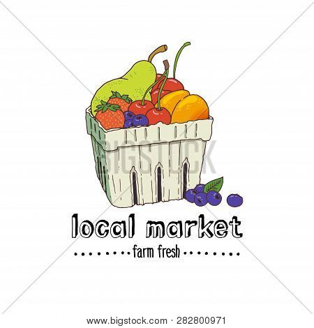 Carton Box With Fresh Fruit