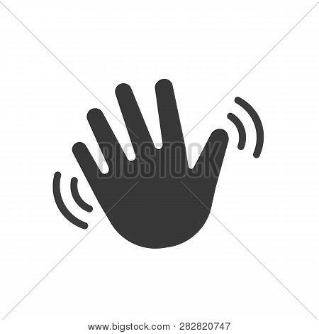 Hand Wave Waving Hi Or Hello. Vector Icon