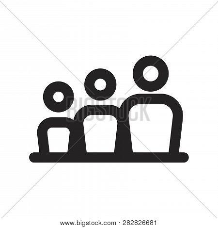Family Vector Icon On White Background. Family Icon In Modern Design Style. Family Vector Icon Popul