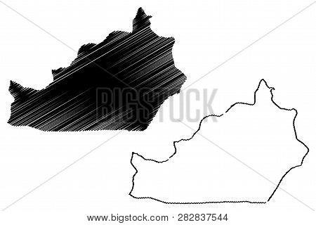 Semnan Province (provinces Of Iran, Islamic Republic Of Iran, Persia) Map Vector Illustration, Scrib
