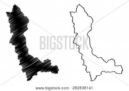 West Azerbaijan Province (provinces Of Iran, Islamic Republic Of Iran, Persia) Map Vector Illustrati