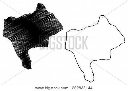 Yazd Province (provinces Of Iran, Islamic Republic Of Iran, Persia) Map Vector Illustration, Scribbl