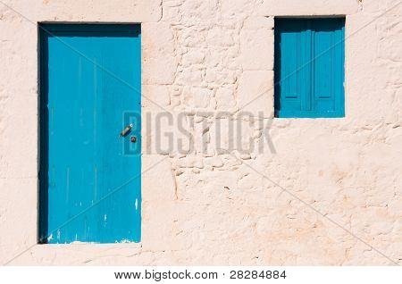 Blue Door And Window