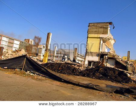 Ruins Of A Building In The Settlement Of Mining