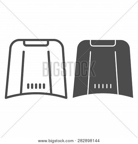 Car Hood Line And Glyph Icon. Automobile Bonnet Vector Illustration Isolated On White. Car Part Outl