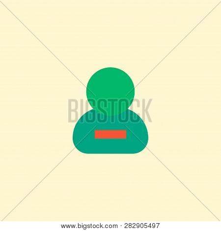 Remove Member Icon Flat Element. Vector Illustration Of Remove Member Icon Flat Isolated On Clean Ba