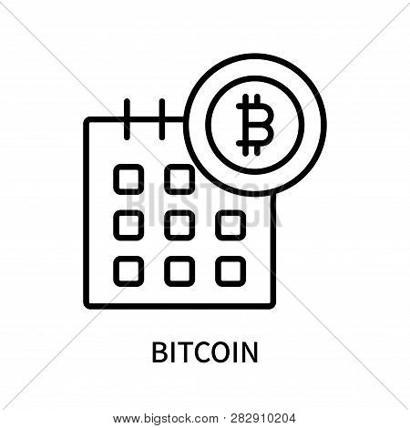 Bitcoin Icon Isolated On White Background. Bitcoin Icon Simple Sign. Bitcoin Icon Trendy And Modern