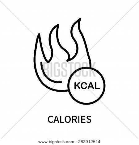 Calories Icon Isolated On White Background. Calories Icon Simple Sign. Calories Icon Trendy And Mode