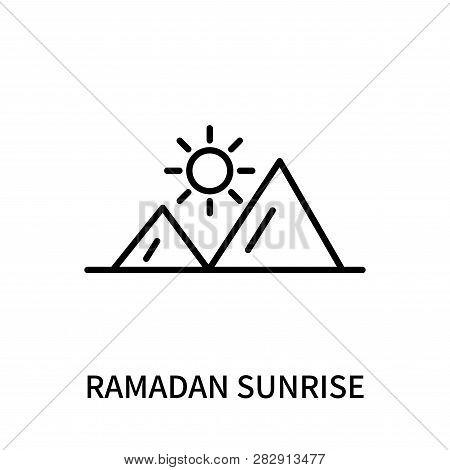 Ramadan Sunrise Icon Isolated On White Background. Ramadan Sunrise Icon Simple Sign. Ramadan Sunrise