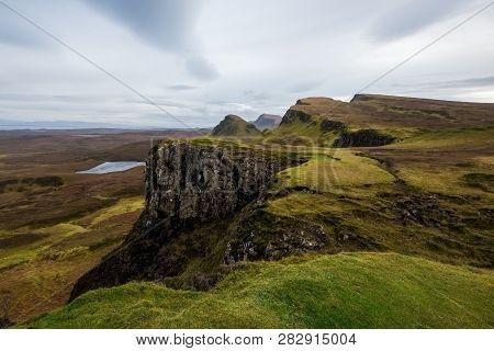 Landscape Around Quiraing, Isle Of Skye, Scotland, United Kingdom