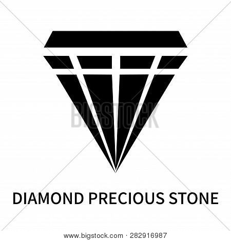 Diamond Precious Stone Icon Isolated On White Background. Diamond Precious Stone Icon Simple Sign. D
