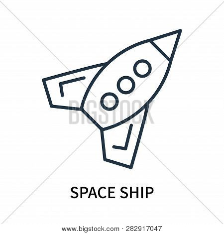 Space Ship Icon Isolated On White Background. Space Ship Icon Simple Sign. Space Ship Icon Trendy An