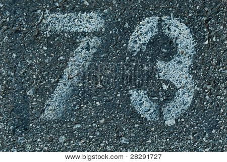 Painted digits on a ground