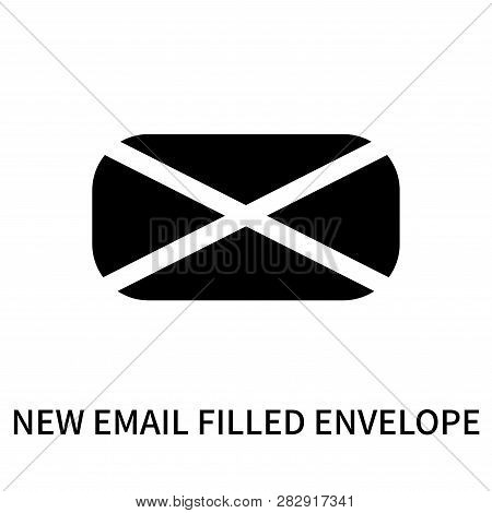 New Email Filled Envelope Icon Isolated On White Background. New Email Filled Envelope Icon Simple S