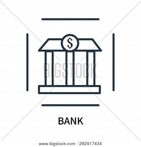 Bank Icon Isolated On White Background. Bank Icon Simple Sign. Bank Icon Trendy And Modern Symbol Fo