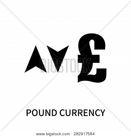 Pound Currency Icon Isolated On White Background. Pound Currency Icon Simple Sign. Pound Currency Ic