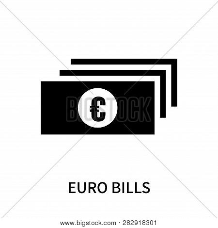 Euro Bills Icon Isolated On White Background. Euro Bills Icon Simple Sign. Euro Bills Icon Trendy An