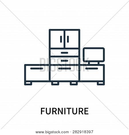 Furniture Icon Isolated On White Background. Furniture Icon Simple Sign. Furniture Icon Trendy And M