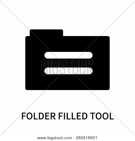 Folder Filled Tool Icon Isolated On White Background. Folder Filled Tool Icon Simple Sign. Folder Fi
