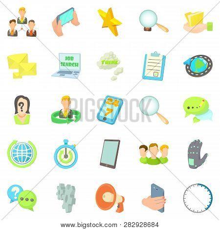 Buzz Icons Set. Cartoon Set Of 25 Buzz Icons For Web Isolated On White Background