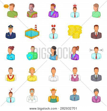 Retail Icons Set. Cartoon Set Of 25 Retail Icons For Web Isolated On White Background