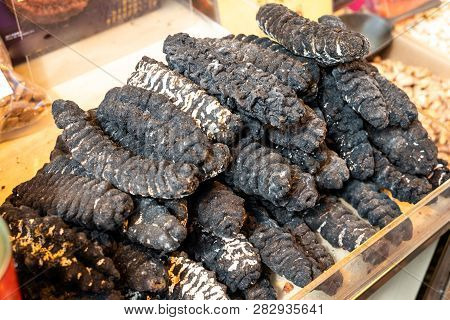 Chinese consumes dried sea cucumber for collagen, nutrients for skin and joints poster