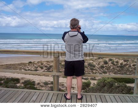 Middle Aged Male Tourist