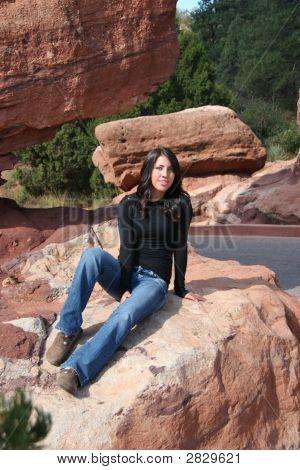 Pretty Teen Girl Sitting