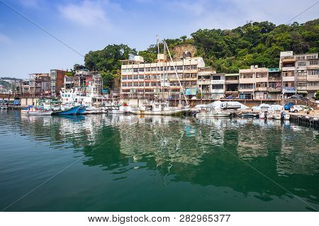 Keelung, Taiwan - September 5, 2018: Old Fishing Harbor Of Keelung City