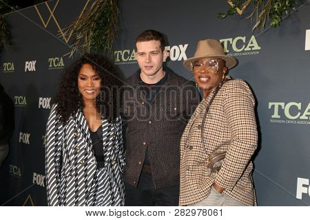 LOS ANGELES - FEB 1:  Angela Bassett, Oliver Stark, Aisha Hinds at the FOX TCA All-Star Party at the Fig House on February 1, 2019 in Los Angeles, CA