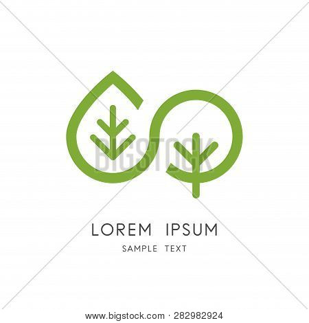 Leaf And Tree Logo - Plant And Sprout Symbol. Infinity Nature And Vegetative Reproduction, Ecology A