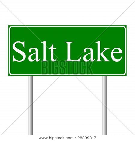 Salt Lake City green road sign
