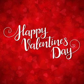 Red Background For Valentines Day. Illustration In Vector. You Can Use For Greeting Cards, Posters A