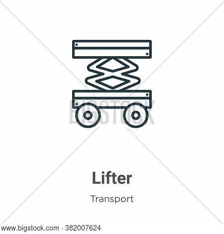 Lifter icon isolated on white background from transport collection. Lifter icon trendy and modern Li